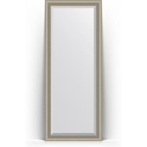 Зеркало пристенное напольное с фацетом Evoform Exclusive Floor 81x201 см, в багетной раме - хамелеон 88 мм (BY 6120) зеркало пристенное напольное с фацетом evoform exclusive floor 81x201 см в багетной раме римская бронза 88 мм by 6119