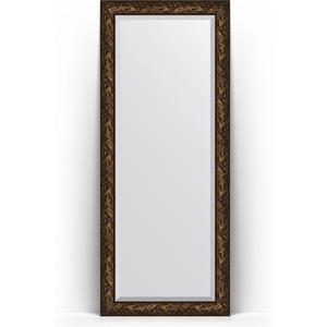 Зеркало пристенное напольное с фацетом Evoform Exclusive Floor 84x203 см, в багетной раме - византия бронза 99 мм (BY 6126) зеркало пристенное напольное с гравировкой evoform exclusive g floor 114x203 см в багетной раме византия бронза 99 мм by 6366