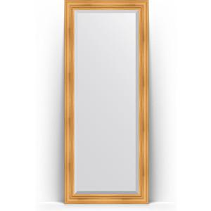 Фото - Зеркало напольное с фацетом поворотное Evoform Exclusive Floor 84x204 см, в багетной раме - травленое золото 99 мм (BY 6127) зеркало напольное с гравировкой поворотное evoform exclusive g floor 114x204 см в багетной раме травленое золото 99 мм by 6367