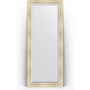 Зеркало пристенное напольное с фацетом Evoform Exclusive Floor 84x204 см, в багетной раме - травленое серебро 99 мм (BY 6128) зеркало пристенное напольное с фацетом evoform exclusive floor 114x203 см в багетной раме византия серебро 99 мм by 6165