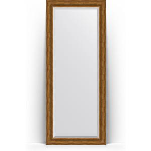 Зеркало напольное с фацетом поворотное Evoform Exclusive Floor 84x204 см, в багетной раме - травленая бронза 99 мм (BY 6129) цена