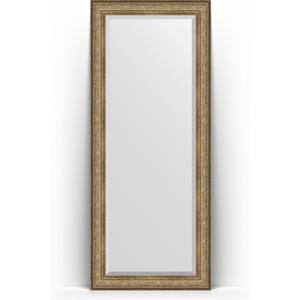 Зеркало пристенное напольное с фацетом Evoform Exclusive Floor 85x205 см, в багетной раме - виньетка античная бронза 109 мм (BY 6135) lumion бра lumion porta 2974 1w