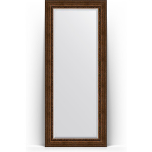 Зеркало напольное с фацетом поворотное Evoform Exclusive Floor 87x207 см, в багетной раме - состаренная бронза с орнаментом 120 мм (BY 6139) зеркало напольное с фацетом поворотное evoform exclusive floor 117x207 см в багетной раме состаренное дерево с орнаментом 120 мм by 6180