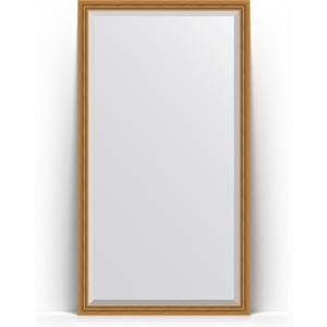 Зеркало напольное с фацетом поворотное Evoform Exclusive Floor 108x198 см, в багетной раме - состаренное золото с плетением 70 мм (BY 6141) зеркало с фацетом в багетной раме поворотное evoform exclusive 53x83 см состаренное золото с плетением 70 мм by 3405