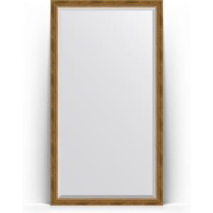 Зеркало напольное с фацетом поворотное Evoform Exclusive Floor 108x198 см, в багетной раме - состаренная бронза с плетением 70 мм (BY 6143) зеркало напольное с фацетом поворотное evoform exclusive floor 78x198 см в багетной раме прованс с плетением 70 мм by 6104