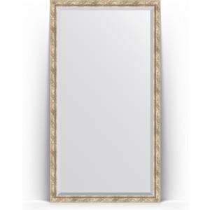 Зеркало напольное с фацетом поворотное Evoform Exclusive Floor 108x198 см, в багетной раме - прованс с плетением 70 мм (BY 6144) зеркало с фацетом в багетной раме поворотное evoform exclusive 53x83 см прованс с плетением 70 мм by 3407