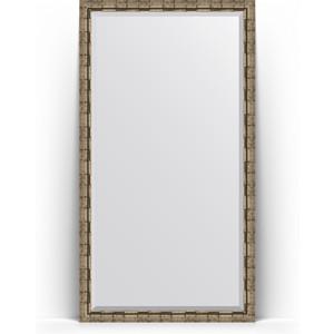 Зеркало напольное с фацетом поворотное Evoform Exclusive Floor 108x198 см, в багетной раме - серебряный бамбук 73 мм (BY 6147) зеркало с фацетом в багетной раме поворотное evoform exclusive 53x83 см серебрянный бамбук 73 мм by 1136