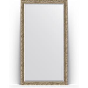 Зеркало напольное с фацетом поворотное Evoform Exclusive Floor 110x200 см, в багетной раме - виньетка античное серебро 85 мм (BY 6153) зеркало с фацетом в багетной раме поворотное evoform exclusive 60x145 см виньетка античное серебро 85 мм by 3539