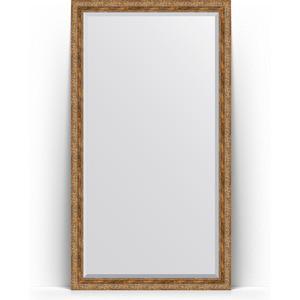 Зеркало напольное с фацетом поворотное Evoform Exclusive Floor 110x200 см, в багетной раме - виньетка античная бронза 85 мм (BY 6154) зеркало с фацетом в багетной раме поворотное evoform exclusive 115x175 см виньетка античная бронза 85 мм by 3618