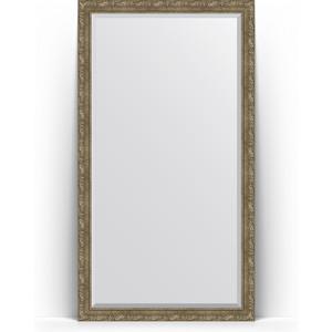 Зеркало напольное с фацетом поворотное Evoform Exclusive Floor 110x200 см, в багетной раме - виньетка античная латунь 85 мм (BY 6155) зеркало с фацетом в багетной раме поворотное evoform exclusive 115x175 см виньетка античная бронза 85 мм by 3618