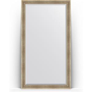 Зеркало пристенное напольное с фацетом Evoform Exclusive Floor 112x202 см, в багетной раме - серебряный акведук 93 мм (BY 6161) cityup nce floor салфетка из микрофибры ca 112 xl