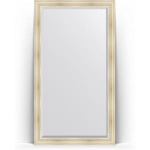 Зеркало пристенное напольное с фацетом Evoform Exclusive Floor 114x204 см, в багетной раме - травленое серебро 99 мм (BY 6168) зеркало пристенное напольное с фацетом evoform exclusive floor 114x203 см в багетной раме византия серебро 99 мм by 6165