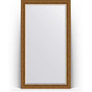 Зеркало пристенное напольное с фацетом Evoform Exclusive Floor 114x204 см, в багетной раме - травленая бронза 99 мм (BY 6169) зеркало пристенное напольное с гравировкой evoform exclusive g floor 114x203 см в багетной раме византия бронза 99 мм by 6366