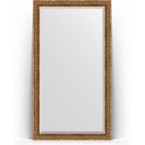 Зеркало напольное с фацетом поворотное Evoform Exclusive Floor 114x204 см, в багетной раме - вензель бронзовый 101 мм (BY 6171) фотоальбом 6171