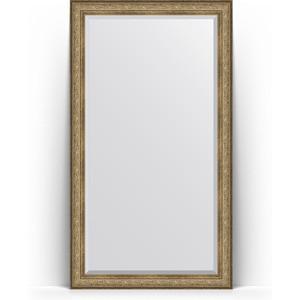 Зеркало напольное с фацетом поворотное Evoform Exclusive Floor 115x205 см, в багетной раме - виньетка античная бронза 109 мм (BY 6175) зеркало с фацетом в багетной раме поворотное evoform exclusive 120x180 см виньетка античная бронза 109 мм by 3633