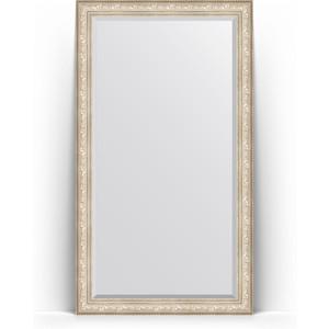 зеркало с фацетом в багетной раме поворотное evoform exclusive 120x180 см виньетка серебро 109 мм by 3634 Зеркало напольное с фацетом поворотное Evoform Exclusive Floor 115x205 см, в багетной раме - виньетка серебро 109 мм (BY 6176)