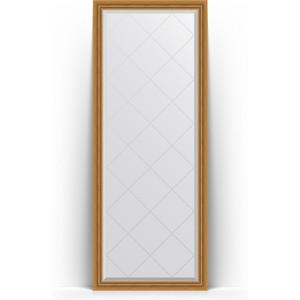 Зеркало напольное с гравировкой поворотное Evoform Exclusive-G Floor 78x198 см, в багетной раме - состаренное золото с плетением 70 мм (BY 6301) зеркало напольное с фацетом поворотное evoform exclusive floor 78x198 см в багетной раме прованс с плетением 70 мм by 6104