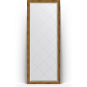 Зеркало напольное с гравировкой поворотное Evoform Exclusive-G Floor 78x198 см, в багетной раме - состаренная бронза с плетением 70 мм (BY 6303) зеркало напольное с фацетом поворотное evoform exclusive floor 78x198 см в багетной раме прованс с плетением 70 мм by 6104