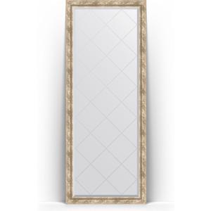 Зеркало напольное с гравировкой поворотное Evoform Exclusive-G Floor 78x198 см, в багетной раме - прованс с плетением 70 мм (BY 6304) зеркало напольное с фацетом поворотное evoform exclusive floor 78x198 см в багетной раме прованс с плетением 70 мм by 6104