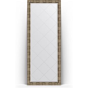 Зеркало пристенное напольное с гравировкой Evoform Exclusive-G Floor 78x198 см, в багетной раме - серебряный бамбук 73 мм (BY 6307) зеркало пристенное напольное с гравировкой evoform exclusive g floor 114x203 см в багетной раме византия бронза 99 мм by 6366