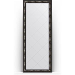 Зеркало напольное с гравировкой поворотное Evoform Exclusive-G Floor 80x199 см, в багетной раме - черный ардеко 81 мм (BY 6308) зеркало напольное с гравировкой поворотное evoform exclusive g floor 110x199 см в багетной раме черный ардеко 81 мм by 6348