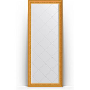 Зеркало напольное с гравировкой поворотное Evoform Exclusive-G Floor 80x199 см, в багетной раме - сусальное золото 80 мм (BY 6309) зеркало с гравировкой поворотное evoform exclusive g 130x184 см в багетной раме сусальное золото 80 мм by 4482