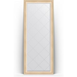 Зеркало пристенное напольное с гравировкой Evoform Exclusive-G Floor 80x200 см, в багетной раме - старый гипс 82 мм (BY 6310) зеркало пристенное напольное с гравировкой evoform exclusive g floor 114x203 см в багетной раме византия бронза 99 мм by 6366