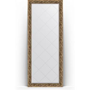 Зеркало напольное с гравировкой поворотное Evoform Exclusive-G Floor 81x200 см, в багетной раме - фреска 84 мм (BY 6311)
