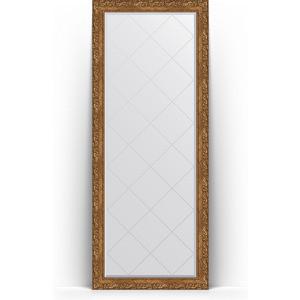 Зеркало напольное с гравировкой поворотное Evoform Exclusive-G Floor 80x200 см, в багетной раме - виньетка бронзовая 85 мм (BY 6312) зеркало с гравировкой поворотное evoform exclusive g 130x185 см в багетной раме виньетка бронзовая 85 мм by 4486