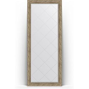 Зеркало напольное с гравировкой поворотное Evoform Exclusive-G Floor 80x200 см, в багетной раме - виньетка античное серебро 85 мм (BY 6313) зеркало с фацетом в багетной раме поворотное evoform exclusive 60x145 см виньетка античное серебро 85 мм by 3539