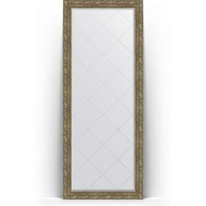 Зеркало напольное с гравировкой поворотное Evoform Exclusive-G Floor 80x200 см, в багетной раме - виньетка античная латунь 85 мм (BY 6315)