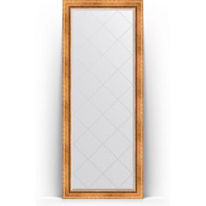 Зеркало напольное с гравировкой поворотное Evoform Exclusive-G Floor 81x201 см, в багетной раме - римское золото 88 мм (BY 6317) зеркало напольное с гравировкой поворотное evoform exclusive g floor 110x199 см в багетной раме черный ардеко 81 мм by 6348