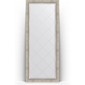 Зеркало напольное с гравировкой поворотное Evoform Exclusive-G Floor 81x201 см, в багетной раме - римское серебро 88 мм (BY 6318) зеркало с гравировкой поворотное evoform exclusive g 56x126 см в багетной раме римское серебро 88 мм by 4061