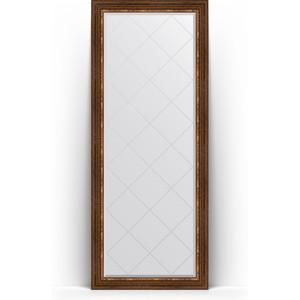 Зеркало напольное с гравировкой поворотное Evoform Exclusive-G Floor 81x201 см, в багетной раме - римская бронза 88 мм (BY 6319) зеркало напольное с гравировкой поворотное evoform exclusive g floor 110x199 см в багетной раме черный ардеко 81 мм by 6348