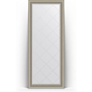 Зеркало пристенное напольное с гравировкой Evoform Exclusive-G Floor 81x201 см, в багетной раме - хамелеон 88 мм (BY 6320) зеркало пристенное напольное с фацетом evoform exclusive floor 81x201 см в багетной раме римская бронза 88 мм by 6119