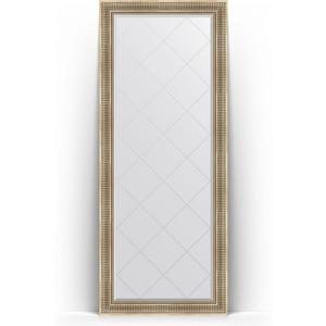 Зеркало пристенное напольное с гравировкой Evoform Exclusive-G Floor 82x202 см, в багетной раме - серебряный акведук 93 мм (BY 6321) зеркало пристенное напольное с гравировкой evoform exclusive g floor 84x203 см в багетной раме византия бронза 99 мм by 6326