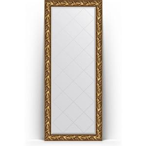 Зеркало напольное с гравировкой поворотное Evoform Exclusive-G Floor 84x203 см, в багетной раме - византия золото 99 мм (BY 6324) зеркало с гравировкой поворотное evoform exclusive g 99x124 см в багетной раме византия золото 99 мм by 4371