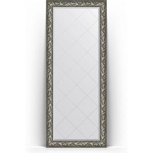 Зеркало пристенное напольное с гравировкой Evoform Exclusive-G Floor 84x203 см, в багетной раме - византия серебро 99 мм (BY 6325) зеркало пристенное напольное с фацетом evoform exclusive floor 114x203 см в багетной раме византия серебро 99 мм by 6165