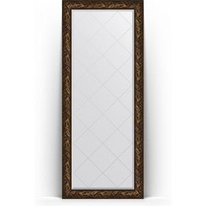 Зеркало напольное с гравировкой поворотное Evoform Exclusive-G Floor 84x203 см, в багетной раме - византия бронза 99 мм (BY 6326)
