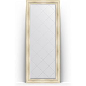 Зеркало напольное с гравировкой поворотное Evoform Exclusive-G Floor 84x204 см, в багетной раме - травленое серебро 99 мм (BY 6328) цена 2017