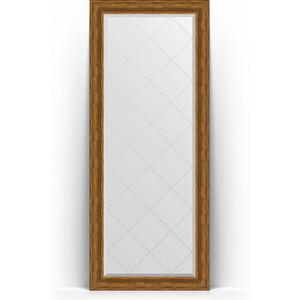Зеркало пристенное напольное с гравировкой Evoform Exclusive-G Floor 84x204 см, в багетной раме - травленая бронза 99 мм (BY 6329) зеркало пристенное напольное с гравировкой evoform exclusive g floor 114x203 см в багетной раме византия бронза 99 мм by 6366