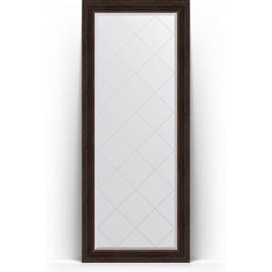 Зеркало напольное с гравировкой поворотное Evoform Exclusive-G Floor 84x204 см, в багетной раме - темный прованс 99 мм (BY 6330) цена 2017