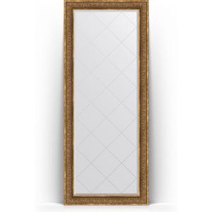 Зеркало напольное с гравировкой поворотное Evoform Exclusive-G Floor 84x204 см, в багетной раме - вензель бронзовый 101 мм (BY 6331) цена 2017