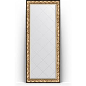 Зеркало напольное с гравировкой поворотное Evoform Exclusive-G Floor 85x205 см, в багетной раме - барокко золото 106 мм (BY 6333) зеркало с гравировкой поворотное evoform exclusive g 80x135 см в багетной раме барокко золото 106 мм by 4251