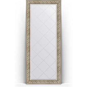 Зеркало напольное с гравировкой поворотное Evoform Exclusive-G Floor 85x205 см, в багетной раме - барокко серебро 106 мм (BY 6334) витамины mychoice nutrition vitamin c апельсин 60 шт