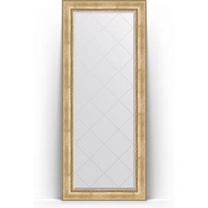 Зеркало напольное с гравировкой поворотное Evoform Exclusive-G Floor 87x207 см, в багетной раме - состаренное серебро с орнаментом 120 мм (BY 6338) зеркало с гравировкой evoform exclusive g 102x127 см в багетной раме состаренное серебро с орнаментом 120 мм by 4385