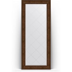 Зеркало напольное с гравировкой поворотное Evoform Exclusive-G Floor 87x207 см, в багетной раме - состаренная бронза с орнаментом 120 мм (BY 6339) зеркало с гравировкой поворотное evoform exclusive g 82x110 см в багетной раме состаренная бронза с орнаментом 120 мм by 4214