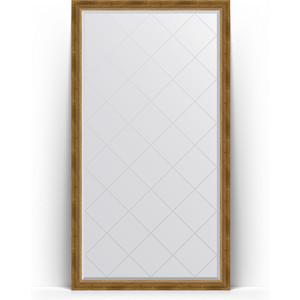 Зеркало напольное с гравировкой поворотное Evoform Exclusive-G Floor 108x198 см, в багетной раме - состаренная бронза с плетением 70 мм (BY 6343) зеркало напольное с фацетом поворотное evoform exclusive floor 78x198 см в багетной раме прованс с плетением 70 мм by 6104