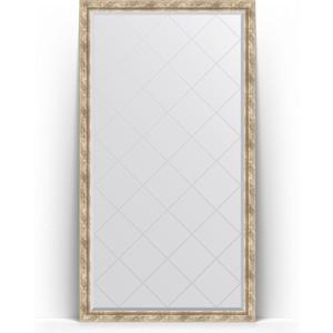 Зеркало напольное с гравировкой поворотное Evoform Exclusive-G Floor 108x198 см, в багетной раме - прованс с плетением 70 мм (BY 6344) зеркало с фацетом в багетной раме поворотное evoform exclusive 53x83 см прованс с плетением 70 мм by 3407