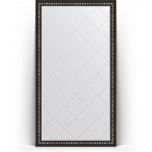 Зеркало напольное с гравировкой поворотное Evoform Exclusive-G Floor 110x199 см, в багетной раме - черный ардеко 81 мм (BY 6348) зеркало напольное с гравировкой поворотное evoform exclusive g floor 110x199 см в багетной раме черный ардеко 81 мм by 6348